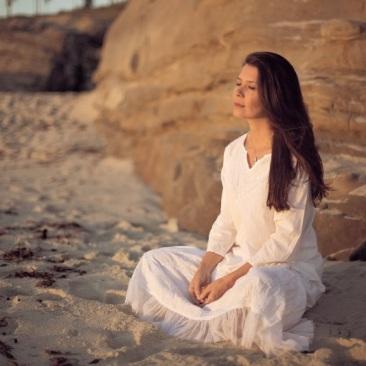 Meditation, spirituality, beach